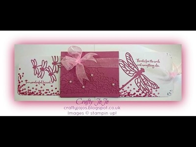Slide out Dragonfly Card - it´s magic!