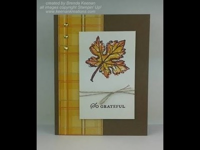 Stampin' Up! Masculine card with fall colors