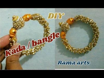 Stone kada. bangle - Making of bangle | jewellery tutorials