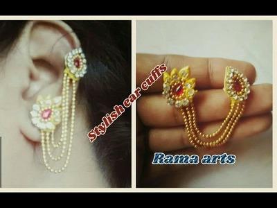 Stylish ear cuffs - How to make ear cuffs | jewellery tutorials