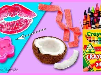 Sweet LIP BALM DIY with CANDIES * Dulce BÁLSAMO LABIAL CASERO con CHUCHERIAS ✅  Top Tips & Tricks