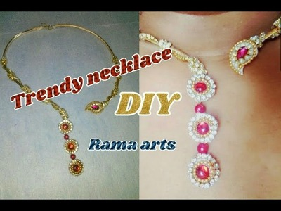 Trendy necklace - How to make trendy necklace | jewellery tutorials