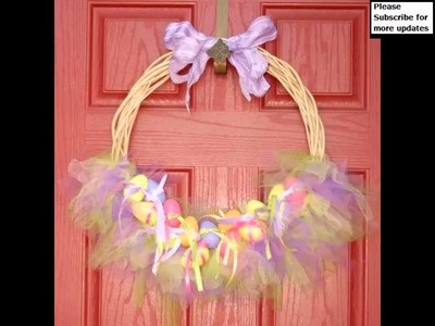 Tulle Easter Wreath | Beautiful Tutu Decor Art Work Picture Collection And Ideas Romance