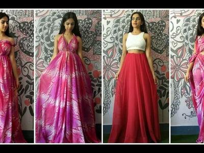 Turn your saree to dress. No sewing. no cutting.