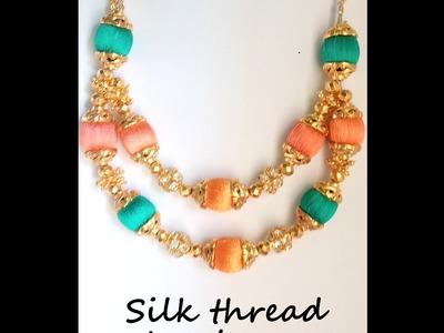 Two step Silk thread chain designer stylish and modern design - SSC Arts 107