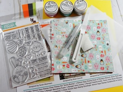 UNBOXING   Simon Says Stamp Card Kit   March 2017   Some Bunny