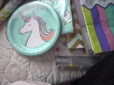Unicorn Birthday Party   Making a Banner and Decoration Haul