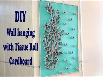 Wall Hanging With Recycled Tissue Rolls: Wall Art
