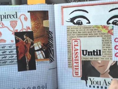 Wanderlust gluebook art journal part 2