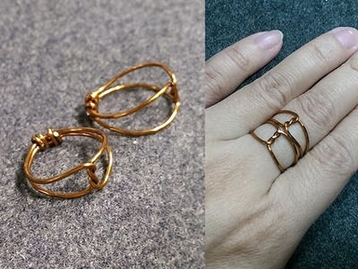Wire ring - How to make wire jewelery 189