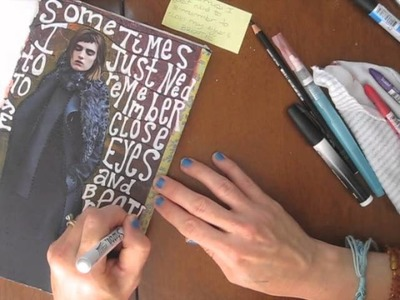 Working in my collage journal - Part 2