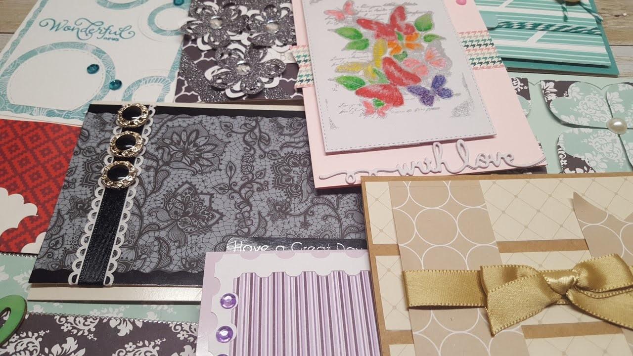 10 cards 1 kit | Crafty Ola's '' Love my scrap'' handmade cards | Set #6