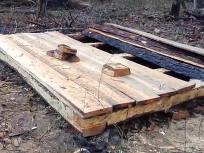 10' x 8' Log Cabin Episode 5 - Floorboards (Part 3)
