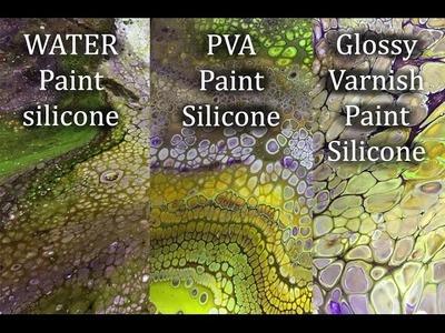 ( 111 ) Acrylic paint with. 1.Water. 2.PVA. 3.Glossy varnish