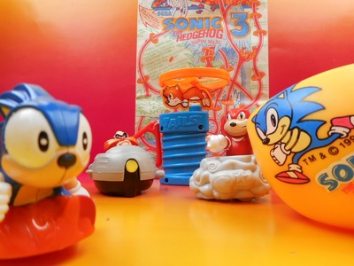 1993 McDONALD'S SONIC THE HEDGEHOG 3 HAPPY MEAL SET OF 5 TOYS VIDEO REVIEW