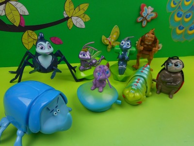 1998 MCDONALDS' A BUG'S LIFE SET OF 8 HAPPY MEAL KIDS TOYS VIDEO REVIEW