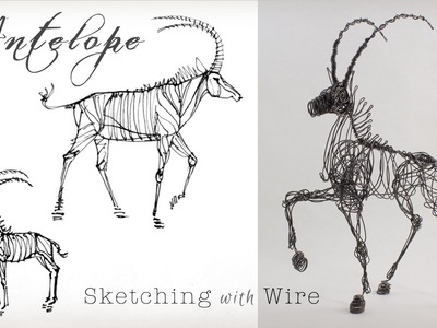 3-D Wire Sculpture with a single line of Wire by Suzanne Moulton