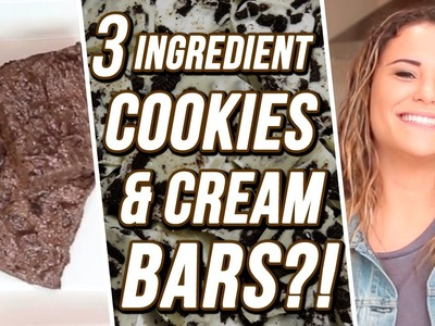 3 Ingredient Cookies & Cream Bars?! | 3 Items Or Less w. Ayydubs