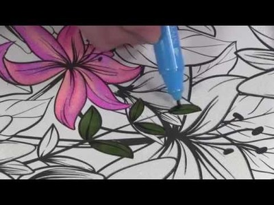 4 Ways to Blend with Alcohol Markers- Advanced Adult Coloring Course - Lesson 4