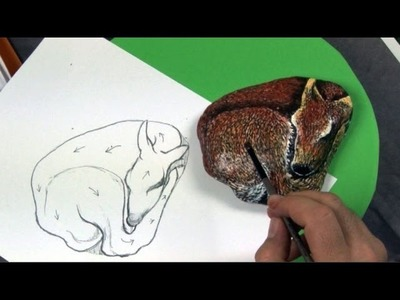 Art Lesson: How to Paint a Beautiful Deer on a Rock