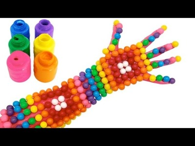 Baby Body Painting for Learn Colors with Hand Painting | Finger Family Song for Children