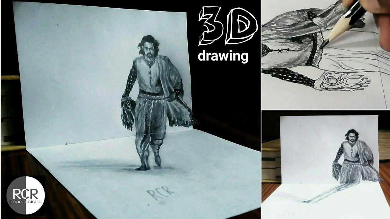 Bahubali drawingprabhas sketchbahubali artbahubali 3d drawingbahubali 2 drawingsketching