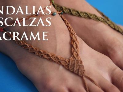 Barefoot sandals macrame DIY