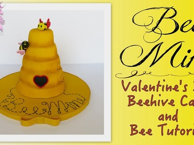 Bee Mine Valentine's Day Cake - EASY HOW TO