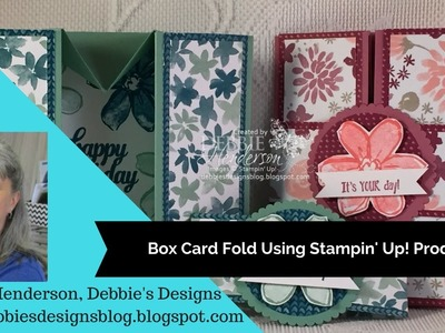 Box Card Fold using Stampin' Up! Products