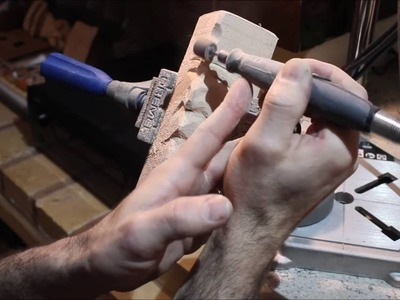 """Carving simple """"woodspirit"""" with basic Dremel accessories."""