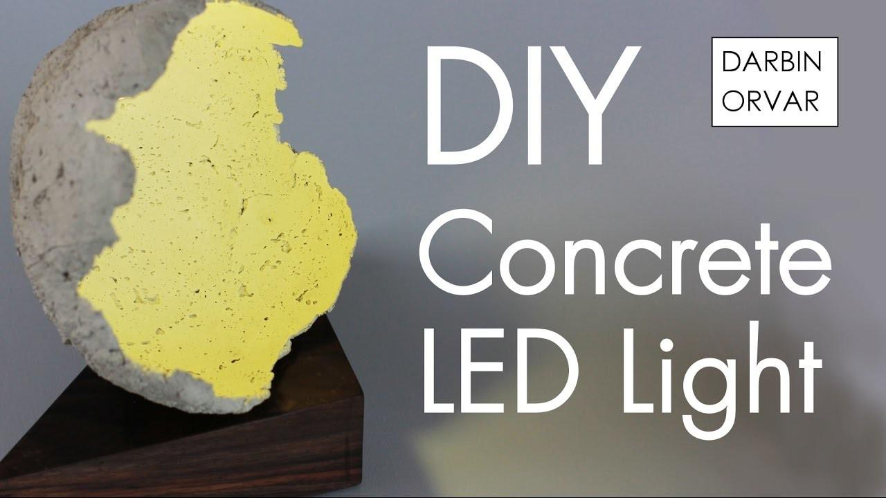 Concrete 3 Watt LED Light w. Walnut & Balloons!