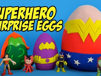 DC Superhero Girls Play-doh Surprise Eggs with Batman Toys & Justice League Toys & Frozen by KidCity