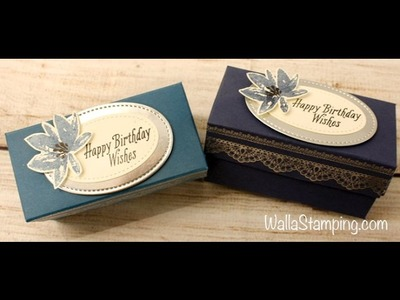 Delicate Details Votive Box with Night of Navy and Silver Embossing