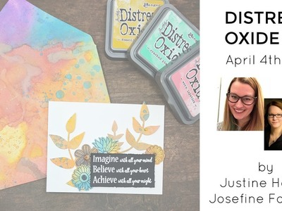 Distress Oxide 101 - How to Create an Envelope With a Matching Card