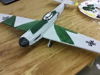 DIY Foam Glider Airplane Part 2 Painted