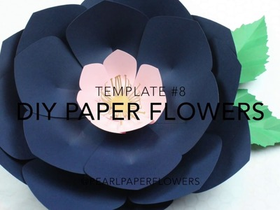 DIY Paper flower | Make with it Me using Template #8