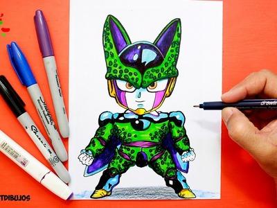 Dragon Ball Kawaii │Como Dibujar Dragon Ball Cell │ How To Draw Dragon Ball Cell