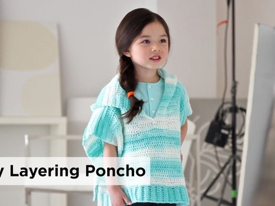 Easy Layering Poncho made with Ice Cream®