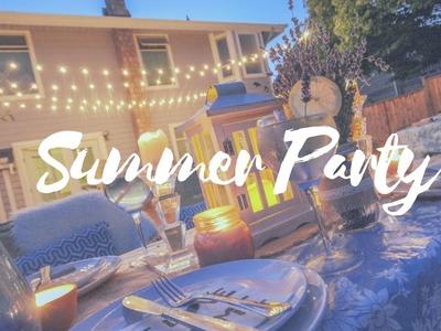 EASY SUMMER TABLE SETTING IDEA!