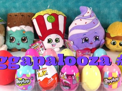 Eggapalooza Surprise Eggs Opening #9 | Shopkins Kinder Joy Play Doh Frozen | PSToyReviews