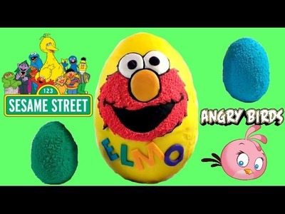 ELMO Sesame Street Surprise Egg Play Doh with Grover, Cookie Monster, Big Bird and Oscar. TUYC