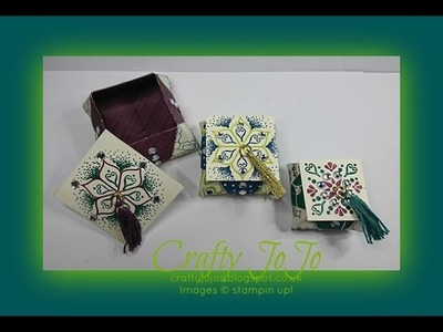 Fabulous Origami Gift Box with Eastern Palace DSP - Tutorial -