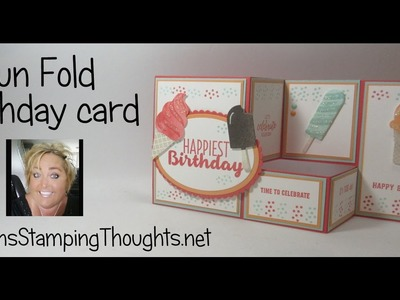 Fun Fold Birthday card