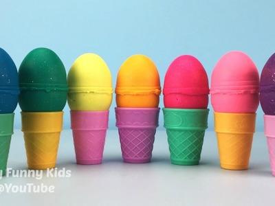 Glitter Play Doh Ice Cream Surprise Eggs Shopkins Season 5 Teenage Mutant Ninja Turtles Kinder Toys
