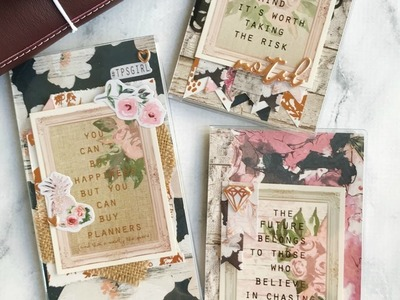 Guest Designer! Travelers Notebook dashboards with March kits with  jenxoplans