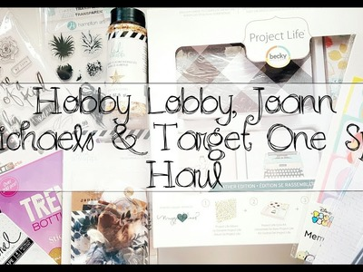 Hobby Lobby, Joann, Target One Spot + More Craft Haul   NSD 2017