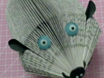 How to Book fold  Easy Book Art  Hedghog