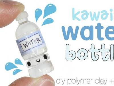 How to DIY Kawaii Water Bottle Polymer Clay.Resin Tutorial