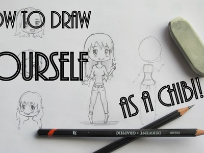 How to draw YOURSELF as a CHIBI character! ♥. girls. different poses