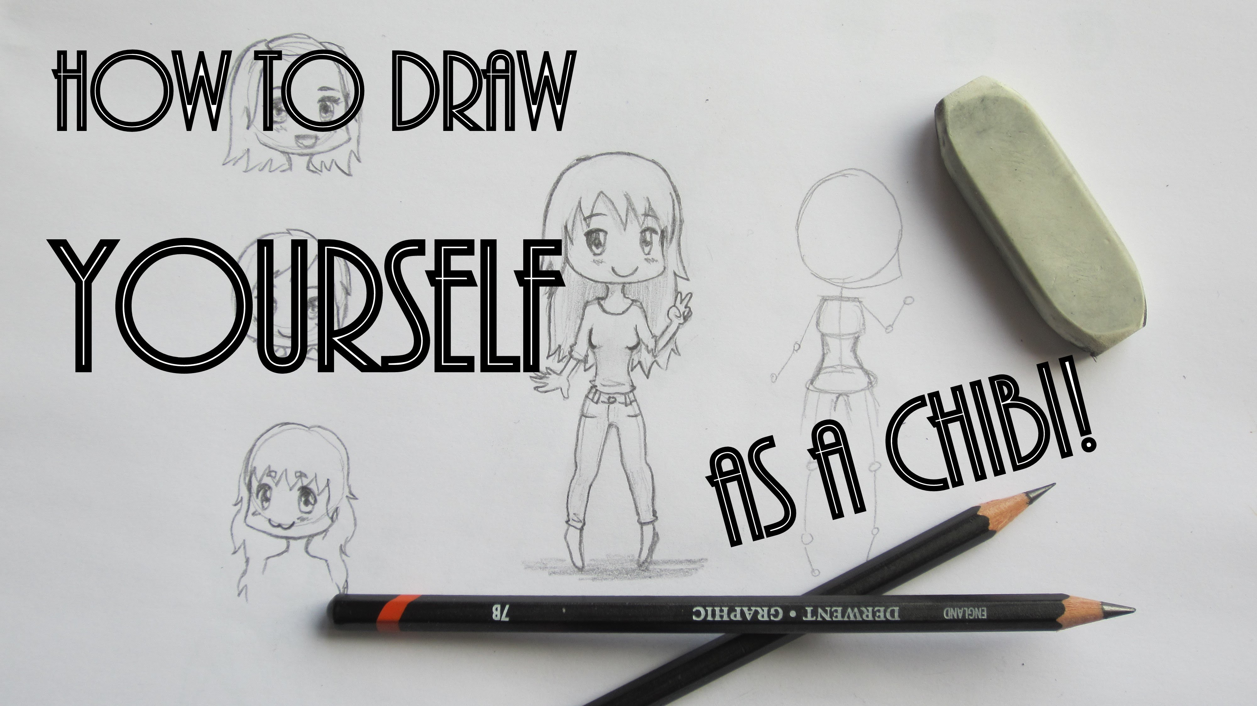 how to draw yourself as a chibi character girls different poses